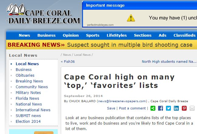 Cape Coral High on many top favorites lists