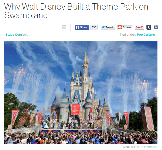 Why Walt Disney Built a Theme Park on Swampland
